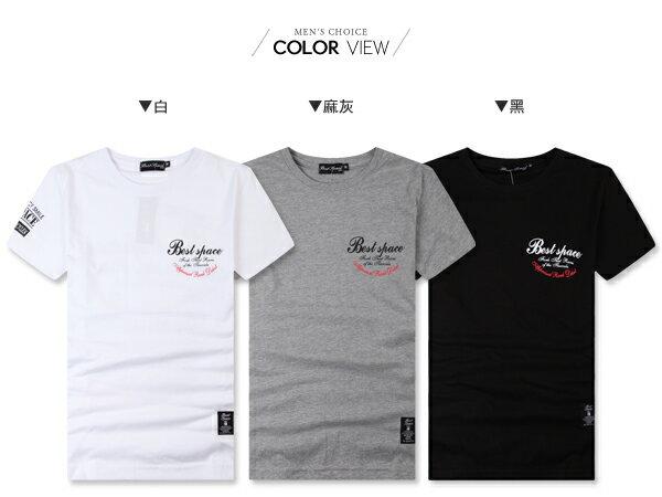 ☆BOY-2☆【NC2178】情侶短袖T恤簡約休閒BEST SPACE印花短T 1