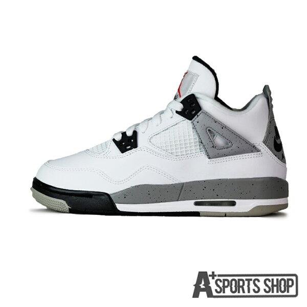 Nike Air Jordan 4 Retro OG BG AJ4  女 耐吉 大理石 白水泥 潑墨 老屁股 白灰-836016192
