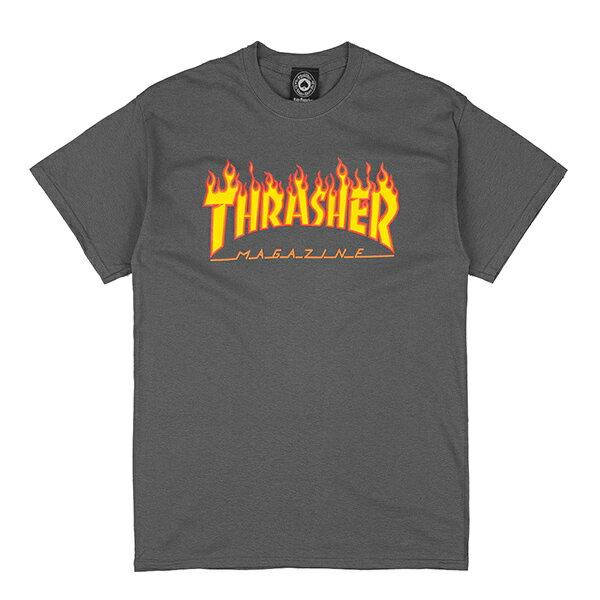 【EST】Thrasher Flame Logo Tee 火焰 灰 權志龍 Gd [TH-0001-007] G0804 - 限時優惠好康折扣