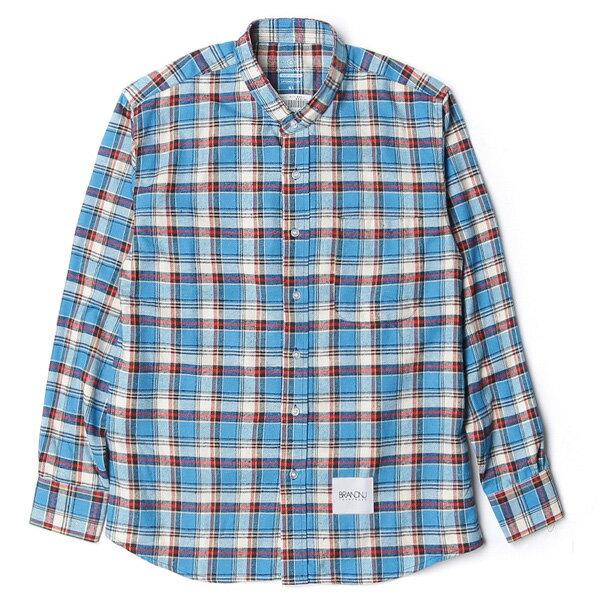 【EST】BRANDNU FY$ FLANNEL SHIRTS 法蘭絨 格紋 長袖 襯衫 藍 [BN-0007-086] G0208 0