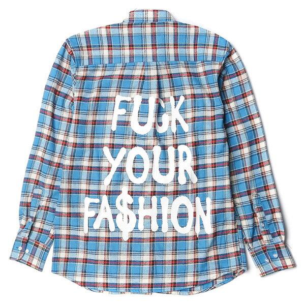 【EST】BRANDNU FY$ FLANNEL SHIRTS 法蘭絨 格紋 長袖 襯衫 藍 [BN-0007-086] G0208 1
