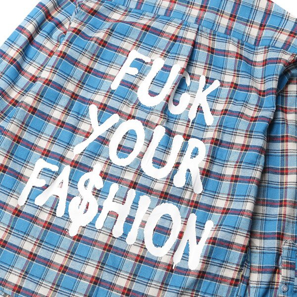 【EST】BRANDNU FY$ FLANNEL SHIRTS 法蘭絨 格紋 長袖 襯衫 藍 [BN-0007-086] G0208 4