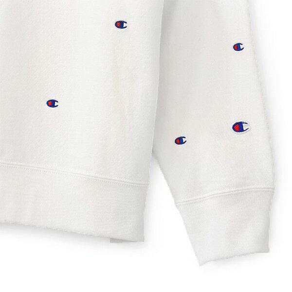 【EST】CHAMPION CAMPUS C3-J116 滿版刺繡LOGO連帽TEE 白 [CH-0032-001] G1007 1
