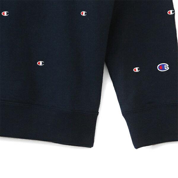 【EST】Champion Campus C3-J116 滿版刺繡logo連帽tee 藍 [CH-0032-086] G1007 1