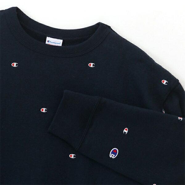 【EST】Champion WMNS Cw-J012 滿版刺繡logo大學tee 藍 [CH-0033-086] G1007 1