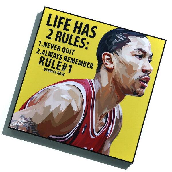 【EST】FAMOUS POP ART 普普風 掛畫 ROSE NBA 公牛 飆風玫瑰 德瑞克羅斯 [FS-0042-XXX] F1217 0