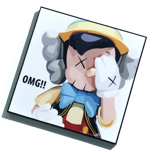 【EST】FAMOUS POP ART 普普風 掛畫 KAWS PINOCCHIO 小木偶 白底 [FS-0057-XXX] F1217 0