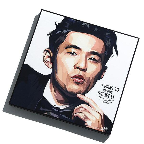 【EST】FAMOUS POP ART 普普風 掛畫 JAY CHOU 周杰倫 [FS-0066-XXX] G0408 0