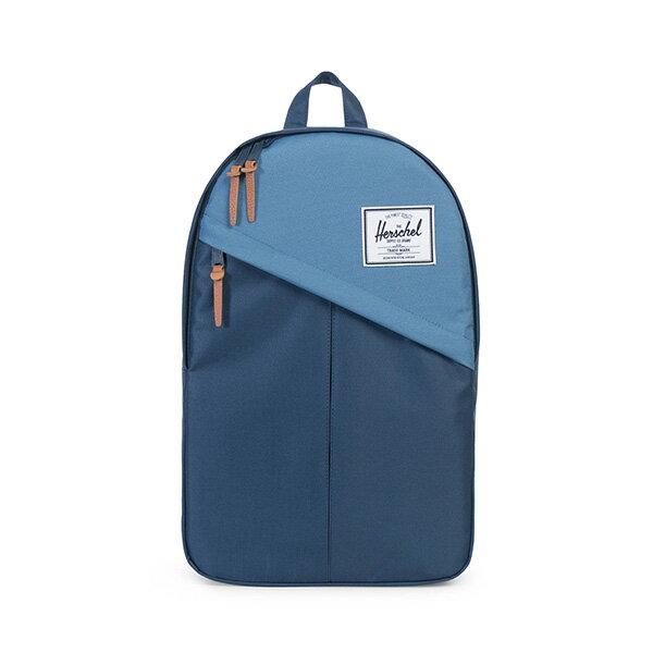 【EST】HERSCHEL PARKER 斜拉鍊 15吋電腦包 後背包 拼色 藍 [HS-0003-A58] G0414 0