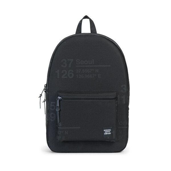 【EST】HERSCHEL SETTLEMENT 15吋電腦包 後背包 城市緯度 黑 [HS-0005-B46] G0801 0