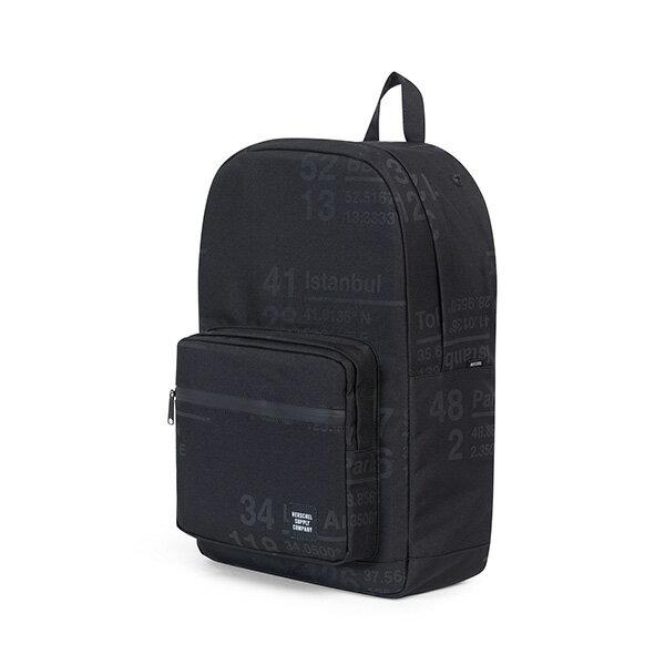 【EST】HERSCHEL POP QUIZ 15吋電腦包 後背包 城市緯度 黑 [HS-0011-B46] G0801 1