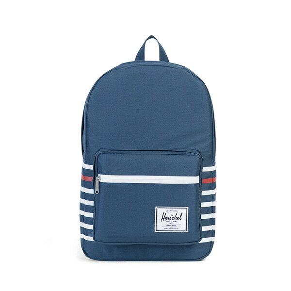 【EST】HERSCHEL POP QUIZ 15吋電腦包 後背包 條紋 藍 [HS-0011-B71] G0801 0