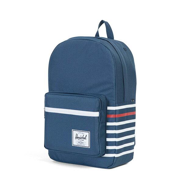 【EST】HERSCHEL POP QUIZ 15吋電腦包 後背包 條紋 藍 [HS-0011-B71] G0801 2