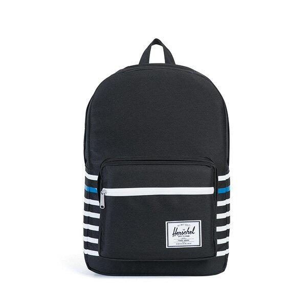 【EST】HERSCHEL POP QUIZ 15吋電腦包 後背包 條紋 黑 [HS-0011-B73] G0801 0