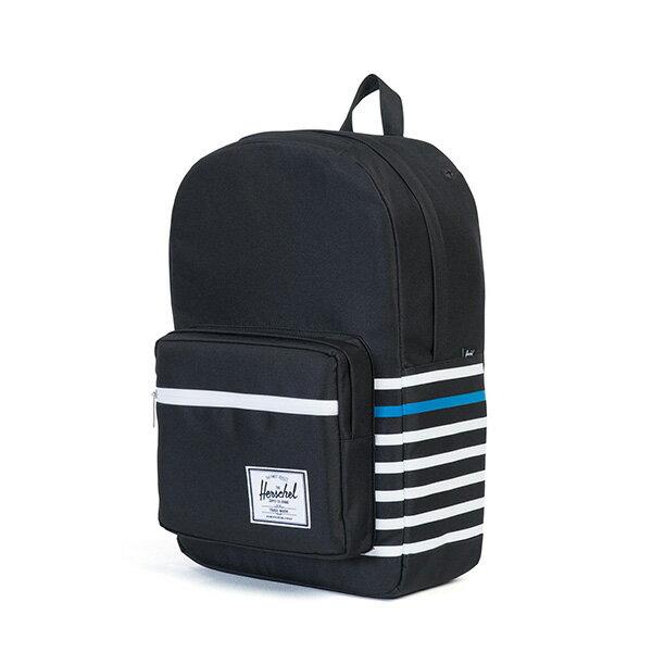 【EST】HERSCHEL POP QUIZ 15吋電腦包 後背包 條紋 黑 [HS-0011-B73] G0801 2