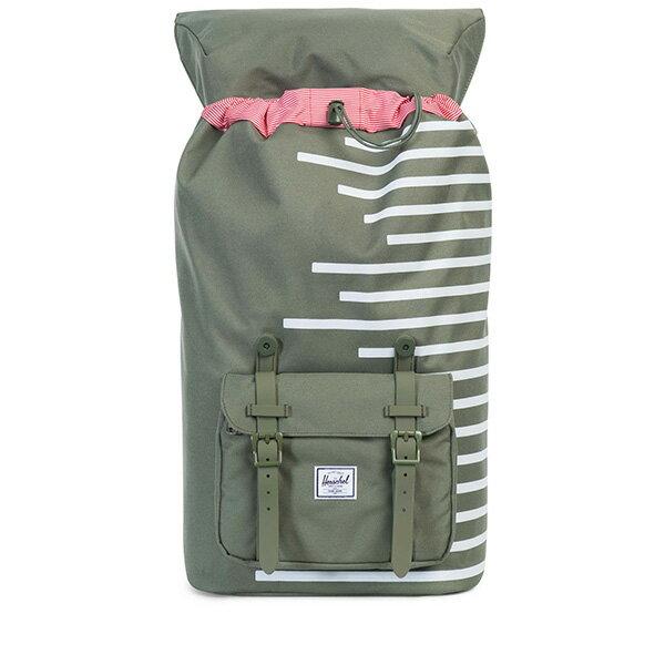 【EST】HERSCHEL LITTLE AMERICA 15吋電腦包 後背包 OFFSET系列 條紋 綠 [HS-0014-A41] G0414 1