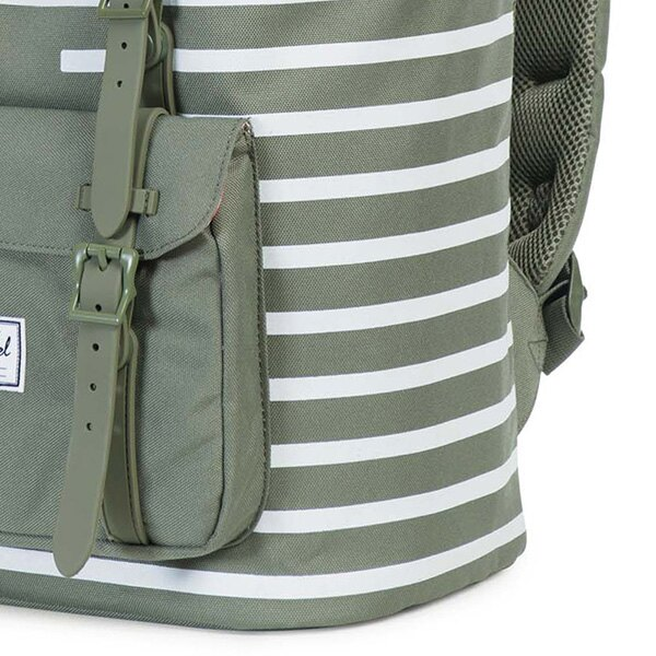 【EST】HERSCHEL LITTLE AMERICA 15吋電腦包 後背包 OFFSET系列 條紋 綠 [HS-0014-A41] G0414 4