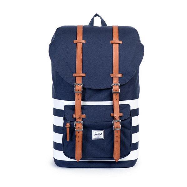 【EST】HERSCHEL LITTLE AMERICA 15吋電腦包 後背包 條紋 藍 [HS-0014-903] G0122 0