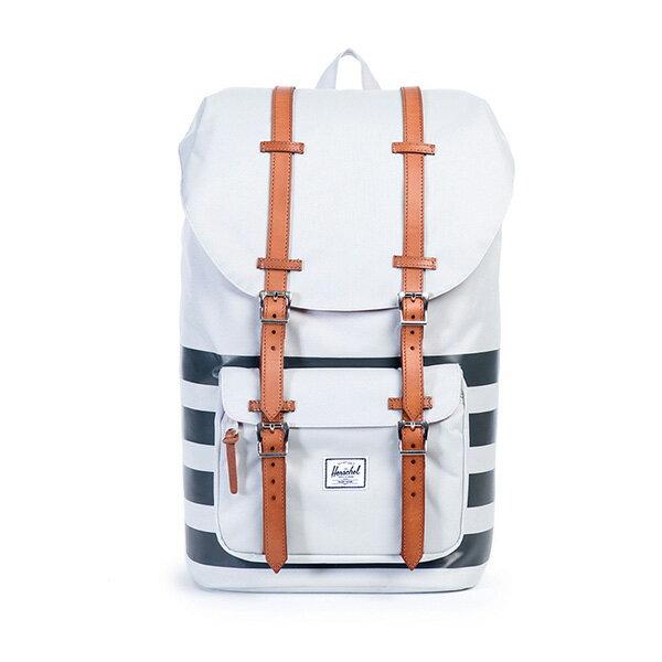 【EST】HERSCHEL LITTLE AMERICA 15吋電腦包 後背包 條紋 白 [HS-0014-904] G0122 0