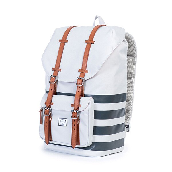【EST】HERSCHEL LITTLE AMERICA 15吋電腦包 後背包 條紋 白 [HS-0014-904] G0122 2