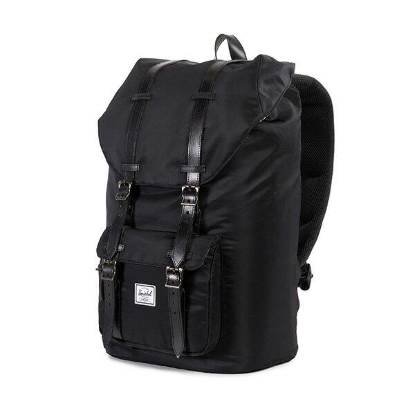 【EST】HERSCHEL LITTLE AMERICA 15吋電腦包 後背包 皮帶 尼龍 黑 [HS-0014-949] G0122 2
