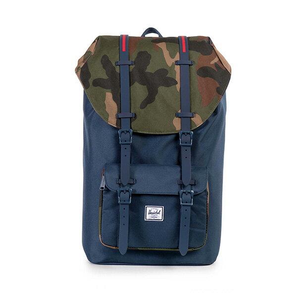 【EST】HERSCHEL LITTLE AMERICA 15吋電腦包 後背包 拼接 迷彩 藍 [HS-0014-965] G0706 0