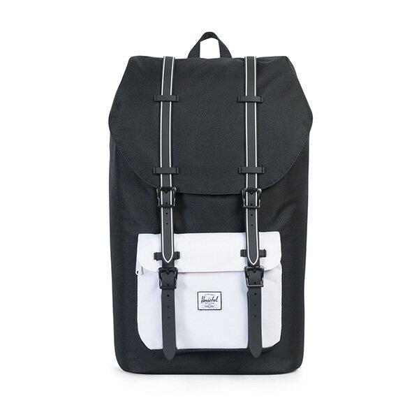 【EST】HERSCHEL LITTLE AMERICA 15吋電腦包 後背包 黑白 [HS-0014-B49] G0801 0