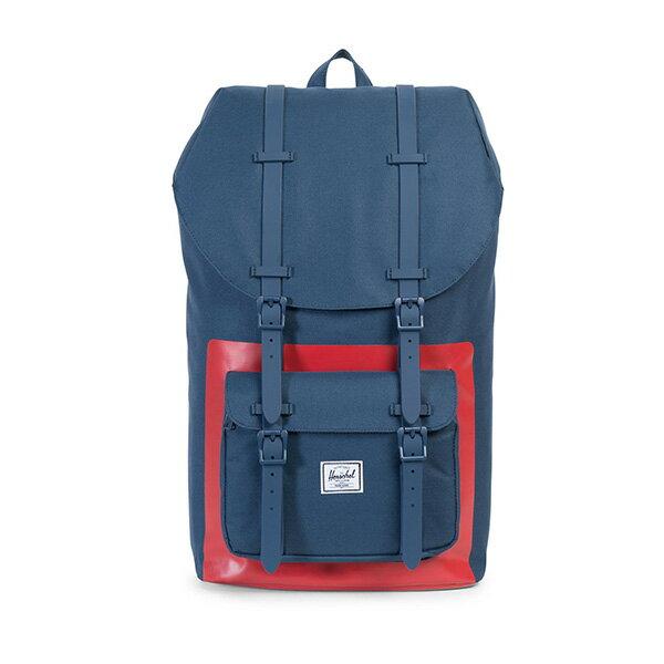 【EST】HERSCHEL LITTLE AMERICA 15吋電腦包 後背包 紅印 藍 [HS-0014-B52] G0801 0