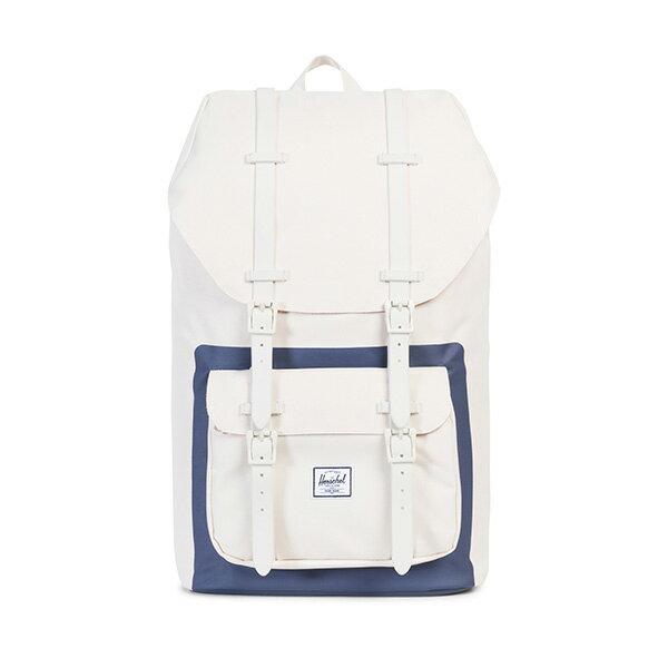 【EST】HERSCHEL LITTLE AMERICA 15吋電腦包 後背包 藍印 白 [HS-0014-B53] G0801 0