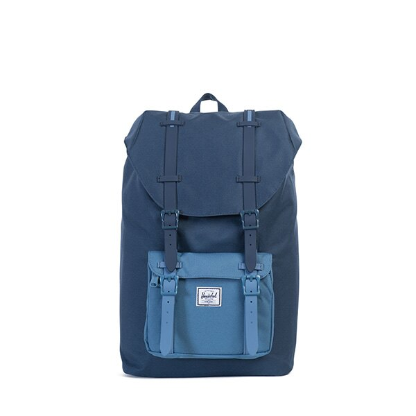 【EST】HERSCHEL LITTLE AMERICA MID 中款 13吋電腦包 後背包 拼色 藍 [HS-0020-A58] G0414 0
