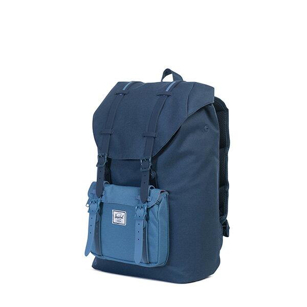 【EST】HERSCHEL LITTLE AMERICA MID 中款 13吋電腦包 後背包 拼色 藍 [HS-0020-A58] G0414 2