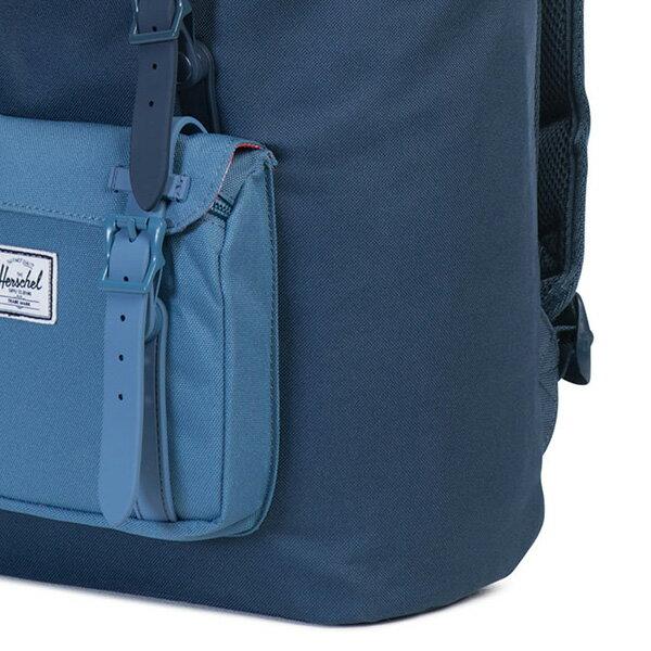 【EST】HERSCHEL LITTLE AMERICA MID 中款 13吋電腦包 後背包 拼色 藍 [HS-0020-A58] G0414 4