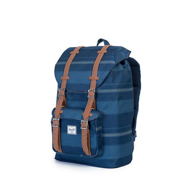 【EST】HERSCHEL LITTLE AMERICA MID 中款 13吋電腦包 後背包 條紋 藍 [HS-0020-925] G0122 2