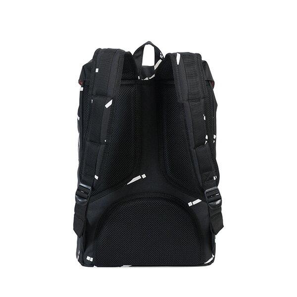 【EST】HERSCHEL LITTLE AMERICA MID 中款 13吋電腦包 後背包 線條 黑 [HS-0020-B44] G0801 3
