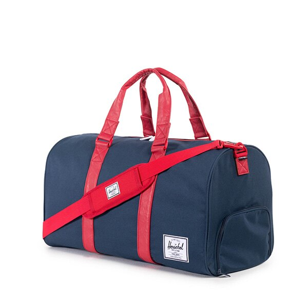 【EST】HERSCHEL NOVEL 圓筒 多功能 鞋箱 手提袋 旅行包 藍紅 [HS-0026-018] F1019 1