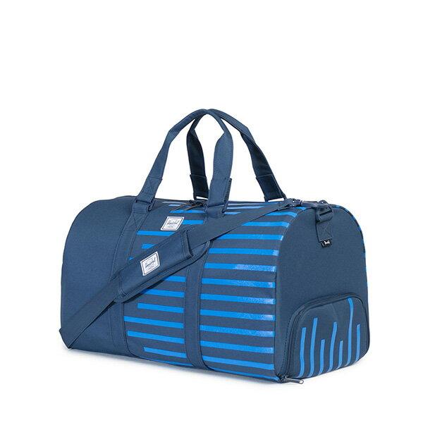 【EST】Herschel Novel 圓筒 多功能 鞋箱 手提袋 旅行包 Offset系列 條紋 藍 [HS-0026-A42] G0414 1
