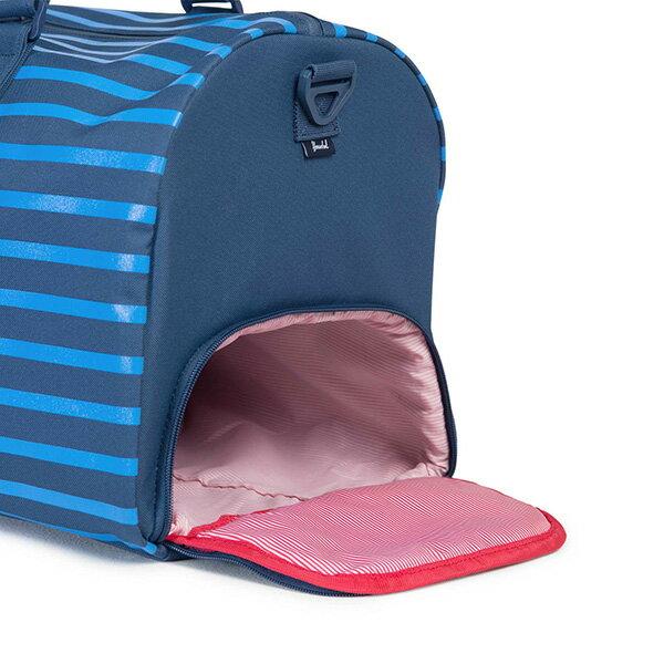 【EST】Herschel Novel 圓筒 多功能 鞋箱 手提袋 旅行包 Offset系列 條紋 藍 [HS-0026-A42] G0414 2