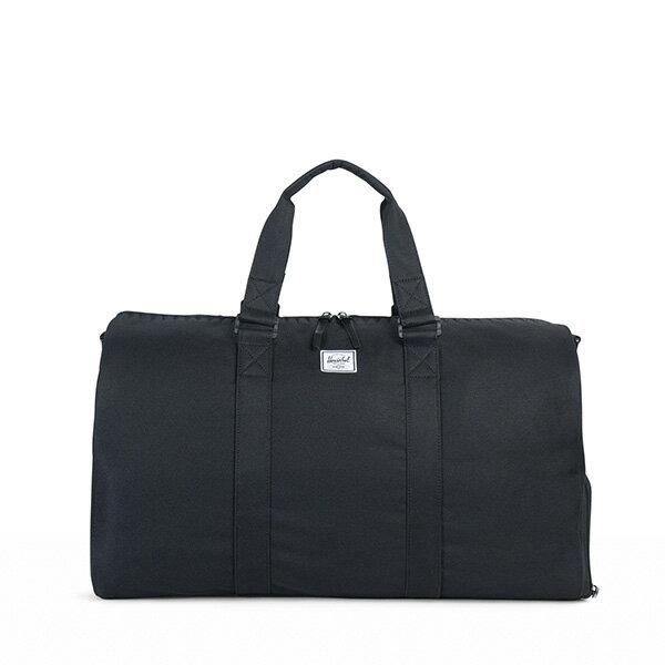 【EST】HERSCHEL NOVEL 圓筒 多功能 鞋箱 手提袋 旅行包 ROSWELL系列 刺繡 黑 [HS-0026-A43] G0414 0