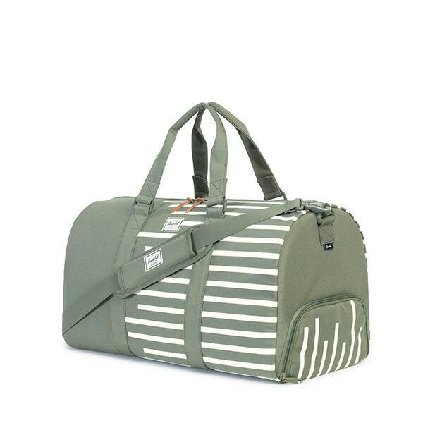 【EST】HERSCHEL NOVEL 圓筒 多功能 鞋箱 手提袋 旅行包 OFFSET系列 條紋 綠 [HS-0026-A41] G0706 1