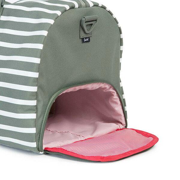 【EST】HERSCHEL NOVEL 圓筒 多功能 鞋箱 手提袋 旅行包 OFFSET系列 條紋 綠 [HS-0026-A41] G0706 2