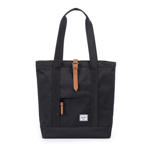 【EST】HERSCHEL MARKET 磁扣帶 托特包 購物袋 側背包 肩背包 黑 [HS-0029-001] G0414 0