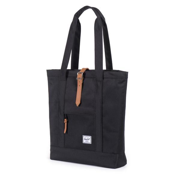 【EST】HERSCHEL MARKET 磁扣帶 托特包 購物袋 側背包 肩背包 黑 [HS-0029-001] G0414 1