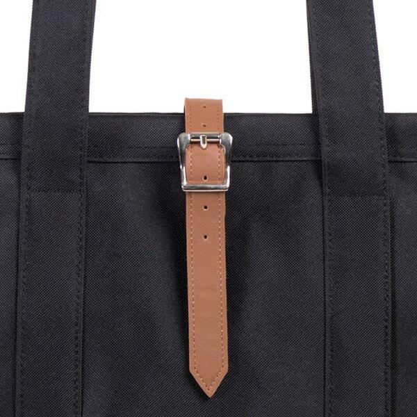 【EST】HERSCHEL MARKET 磁扣帶 托特包 購物袋 側背包 肩背包 黑 [HS-0029-001] G0414 3