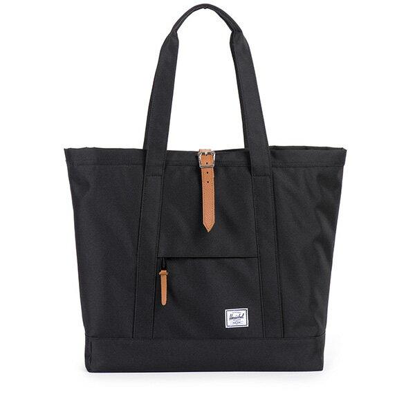 【EST】Herschel Market Xl 磁扣帶 托特包 購物袋 側背包 肩背包 全黑 [HS-0030-001] G0414 0
