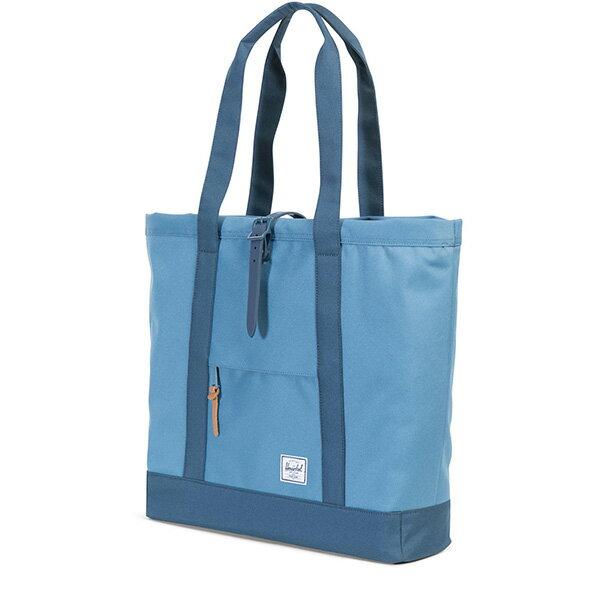 【EST】HERSCHEL MARKET XL 磁扣帶 托特包 購物袋 側背包 肩背包 拚色 藍 [HS-0030-A58] G0706 1