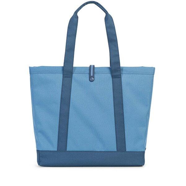 【EST】HERSCHEL MARKET XL 磁扣帶 托特包 購物袋 側背包 肩背包 拚色 藍 [HS-0030-A58] G0706 2