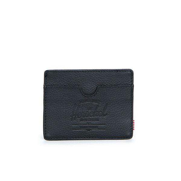 【EST】Herschel Charlie 橫式 卡夾 名片夾 證件套 皮革 黑 [HS-0045-004] G0414 0