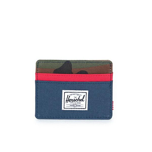 【EST】HERSCHEL CHARLIE 橫式 卡夾 名片夾 證件套 迷彩/紅 [HS-0045-041] G1012 0