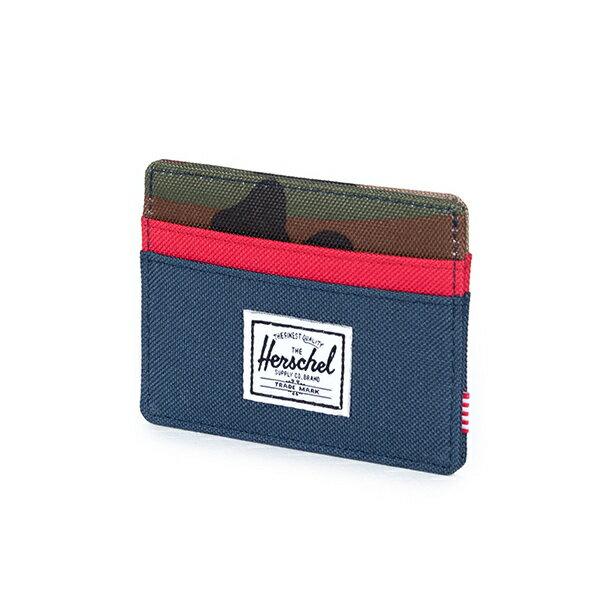 ★整點特賣限時5折★【EST】Herschel Charlie 橫式 卡夾 名片夾 證件套 迷彩/紅 [HS-0045-041] G1012【12/07憑優惠券代碼 SS_20161207。滿888再折100】 1