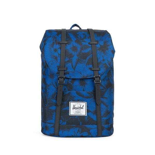 【EST】HERSCHEL RETREAT 15吋電腦包 後背包 叢林 花卉 藍 [HS-0066-A56] G0706 0